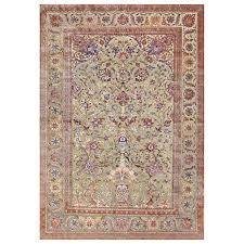 Kashan Persian Rugs by Rare Antique Silk Persian Souf Kashan Carpet At 1stdibs