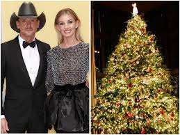 country stars show off their festive christmas trees sounds like