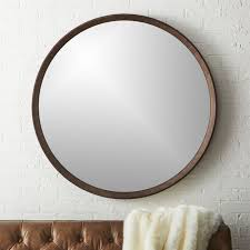 Circle Wall Mirrors Modern Mirrors Round Square And Standing Cb2