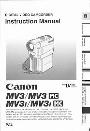 canon camcorder mv 3 i user guide manualsonline com