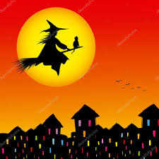 halloween picture background halloween background silhouette of a witch flying in a broom