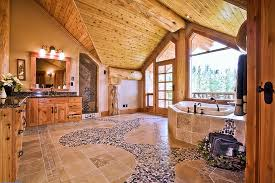 log cabin bathrooms oregon log house retreat house of the day photos master