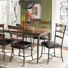hillsdale cameron dining table hillsdale cameron 7 pc rectangle wood and metal dining table set