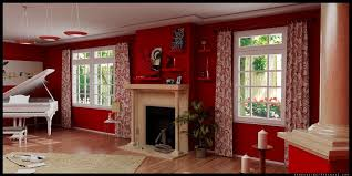 interior design elegant red living room ideas with fireplace