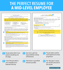 Resume For A Marketing Job by This Is An Ideal Resume For A Mid Level Employee Business Insider