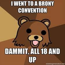 Know Your Meme Brony - brony convention pedobear know your meme
