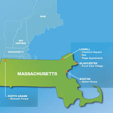 Boston On Map by Massachusetts The Caleb Group