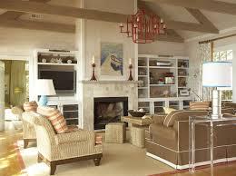 great room decor exposed wood beams transitional living room thompson custom homes