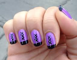 basic line nail designs how to nail designs