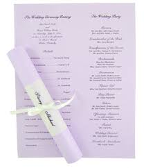 scroll wedding programs 8 best images of wedding program scroll template scroll wedding