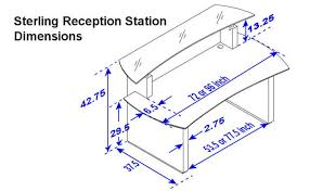 home design amusing reception desk dimensions standards station