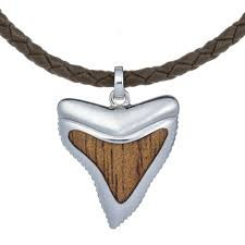 great necklace koa wood great white shark tooth necklace landing company