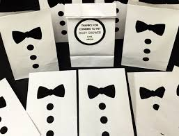 set of 10 personalized bow tie baby shower treat bags little