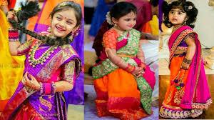 top beautiful kids half saree kids dhavani dress youtube