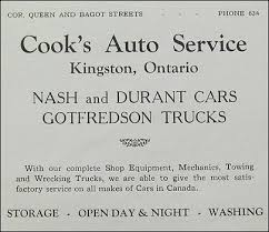 Cook U0027s Auto Service In by The World Of Andrew Thomas Small Ontario Towns Artwork For Sale