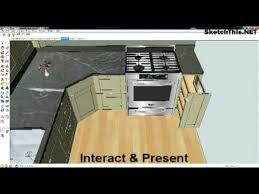 sketchup kitchen design using sketchup in kitchen design youtube