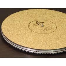 platter mat sold bnip european made audiophile cork turntable vinyl lp record