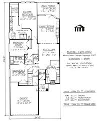 3 Bedroom 2 Bathroom House Plans 2 Story Narrow Lot House Plans Planskill Awesome Narrow House