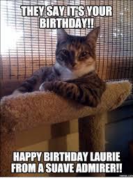 Cat Happy Birthday Meme - 25 best memes about cat says happy birthday cat says happy