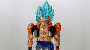 drawing gogeta super saiyan god ssjg dragon ball