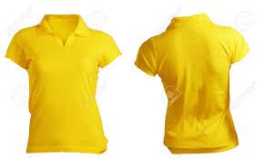 women u0027s blank yellow polo shirt front and back design template