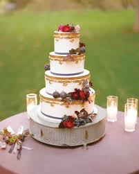 fall wedding cakes gold trimmed wedding cake with sugar fruit wedding trends that i