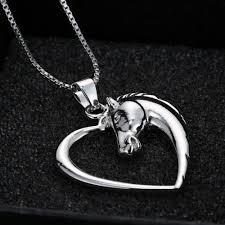 horse necklace pendant images Classic horse heart necklace noahs cave jpg