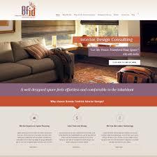 interior design wordpress website design for brenda fredrick