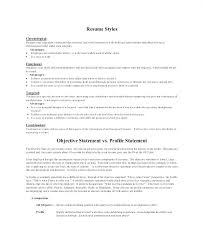 resume profile vs resume objective sle resume objective statements luxsos me