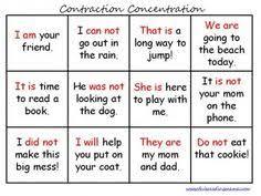 contractions worksheets worksheet 2 word work pinterest