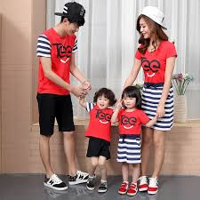 summer family set matching mother daughter dresses clothes father