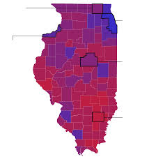 chicago voting map election analysis on the edge of illinois rural divide