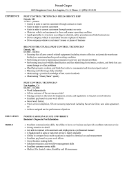 resume exles objective general english by rangers schedule pest control technician resume sles velvet jobs