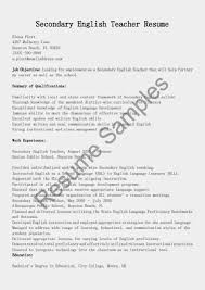 Foreign Language Teacher Resume Sample Secondary Teacher Resume