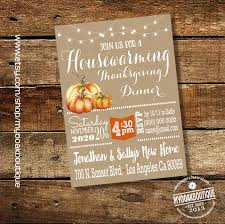 housewarming thanksgiving dinner invitation house warming