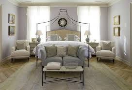 gray purple paint color transitional bedroom benjamin moore