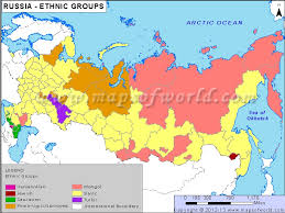 russia map by population ethnic groups map