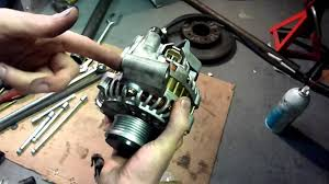 mazda mpv alternator replacement and drive axle removal youtube