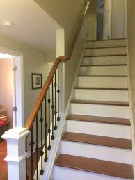 Wrought Iron And Wood Banisters Wood Railing With Wrought Iron Balusters U2013 Lux Design And Contracting