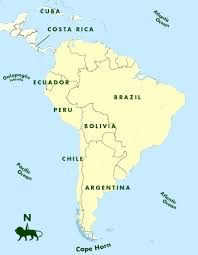 Physical Map South America by The Southern Cone Political Map Of South America 1200 Px Nations