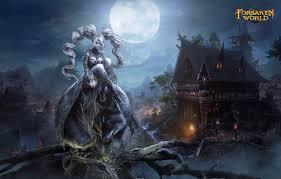 dark village wallpaper wallpaper village werewolf night girl dark age forsaken world