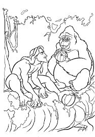 tarzan coloring pages things with no place pinterest