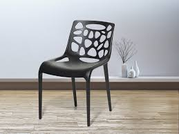 Outdoor Furniture Plastic Chairs by Modern Plastic Chair Black Morgan