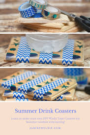 diy washi tape summer drink coasters confessions of a mommyaholic