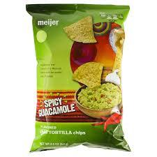 Meijer Home Decor Meijer Spicy Guacamole Thin Tortilla Chips 8 5 Oz Meijer Com