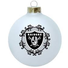 oakland raiders tree ornaments