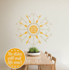 kitchen wall decal quote vinyl custom art kitchen wall art zoom