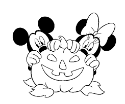 mickey and minnie disney halloween coloring page zelf