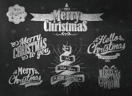 vintage christmas background with typography stock vector