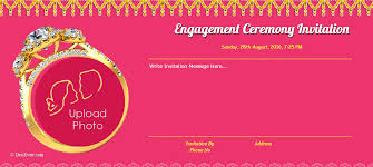 free hindu engagement invitation cards invitation card